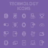 Technology icon set. Royalty Free Stock Photography