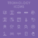 Technology icon set. Royalty Free Stock Photos