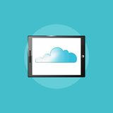 Technology icon, tablet PC computer illustration Stock Images