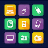 Technology Icons Flat Design Royalty Free Stock Images