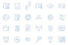 IT-technology icons Stock Images