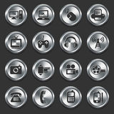 Technology Icons on Internet Buttons Royalty Free Stock Images