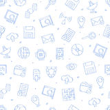 IT-technology icons pattern Stock Photography