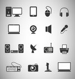 Technology icons. Set of 16 Technology icons Stock Image