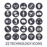 Technology icons set Stock Photography