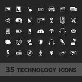 Technology icons set Royalty Free Stock Photography