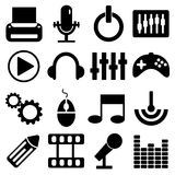 Technology icons set great for any use. Vector EPS10. Stock Images