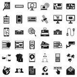 Technology icons set, simple style. Technology icons set. Simple style of 36 technology vector icons for web isolated on white background Royalty Free Stock Photo