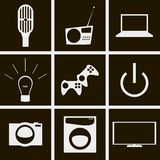 Technology icons. Set of icons on a theme Technology Stock Photos