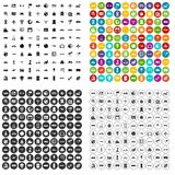 100 technology icons set vector variant. 100 technology icons set vector in 4 variant for any web design isolated on white Royalty Free Stock Images