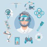 Technology Icons Set Royalty Free Stock Image