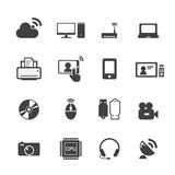 Technology icons Royalty Free Stock Photo