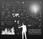 Technology - Ideas - Drawings Stock Image