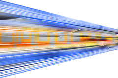 Technology illustration. Technology speed illustration with blue and orange Royalty Free Stock Photography