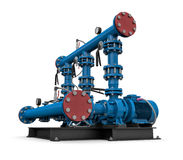 Technology: illustration pump station of water Royalty Free Stock Photo