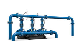 Technology. Illustration pump station of water Royalty Free Stock Image