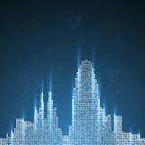 Technology image of Barcelona Stock Photography