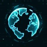 Technology image of globe Stock Photography