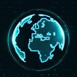 Technology image of globe Royalty Free Stock Photos