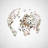 Technology image of globe Royalty Free Stock Photo