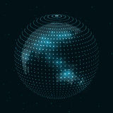 Technology image of globe Royalty Free Stock Photography