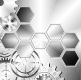 Technology and industrial background. With gear wheel stock illustration