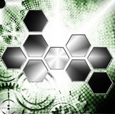 Technology and industrial background. With gear wheel royalty free illustration