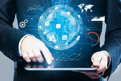 Technology and infograph concept Stock Images