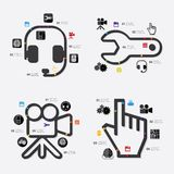 Technology infographic. It is a beautiful technology line infographic. Vector illustration Royalty Free Stock Photo