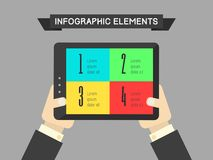 Technology Infographic Element Stock Photography
