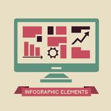 Technology Infographic Element Royalty Free Stock Photos