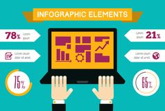 Technology Infographic Element Stock Photos