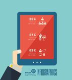 Technology Infographic Element Royalty Free Stock Photography