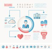 Technology Infographic Elements Stock Photo
