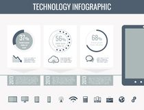 Technology Infographic Elements Royalty Free Stock Images