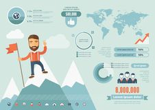 Technology Infographic Elements Royalty Free Stock Photography