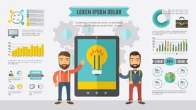 Technology Infographic Elements vector illustration
