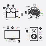 Technology infographic. Technology line infographic. Vector illustration. Fully editable file Stock Photo