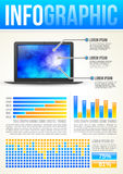 Technology Infographic Template Stock Photo