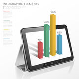 Technology infographic template design Stock Images