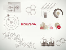 Technology infographics for business with charts. Technology infographics, charts, and diagrams for business reports and designs Royalty Free Stock Image