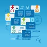 Technology infographics design options banner. Vector illustrati Royalty Free Stock Image