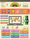 Technology Infographics and Elements. Elements of Technology Infographics design Stock Photography