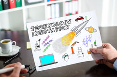 Technology innovation concept on a paper Stock Image