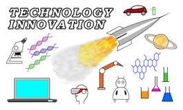 Technology innovation concept on white background Stock Image