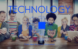 Technology Innovation Connection Internet Communication Concept Royalty Free Stock Images