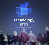 Technology Innovation Digital Evolution Homepage Concept Royalty Free Stock Images