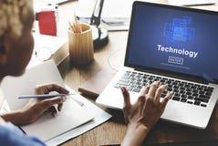 Technology Innovation Digital Evolution Homepage Concept Stock Image