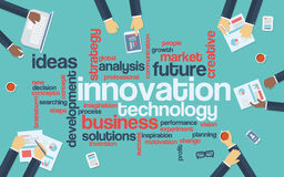 Technology innovation flat design infographics Stock Images
