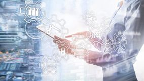 Technology innovation and process automation. Smart industry 4.0. Technology innovation and process automation. Smart industry 4.0 royalty free stock photo